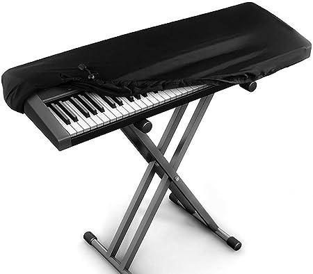 Kaxich Funda protectora elástica para teclado de piano electrónico con cordón universal 88 teclas, teclado de piano, a prueba de polvo