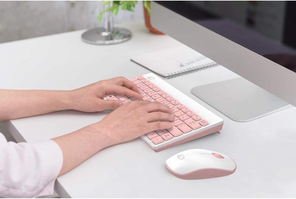 Mini Keyboard 2.4Ghz Ultra Thin Full Size Wireless Keyboard Mouse Combo Set with Number Pad,BlackRed Lee Lam Keyboard and Mouse Combo