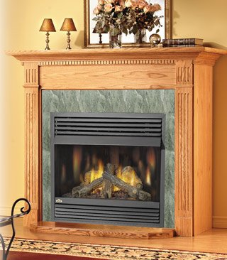 Clearance Gas Fireplaces Zero (Napoleon GVF42 30,000 BTU Vent Free Zero Clearance Gas Fireplace, Propane)