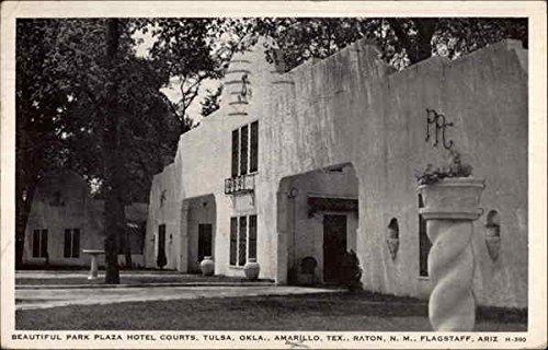Park Plaza Hotel Courts Tulsa, Oklahoma Original Vintage Postcard