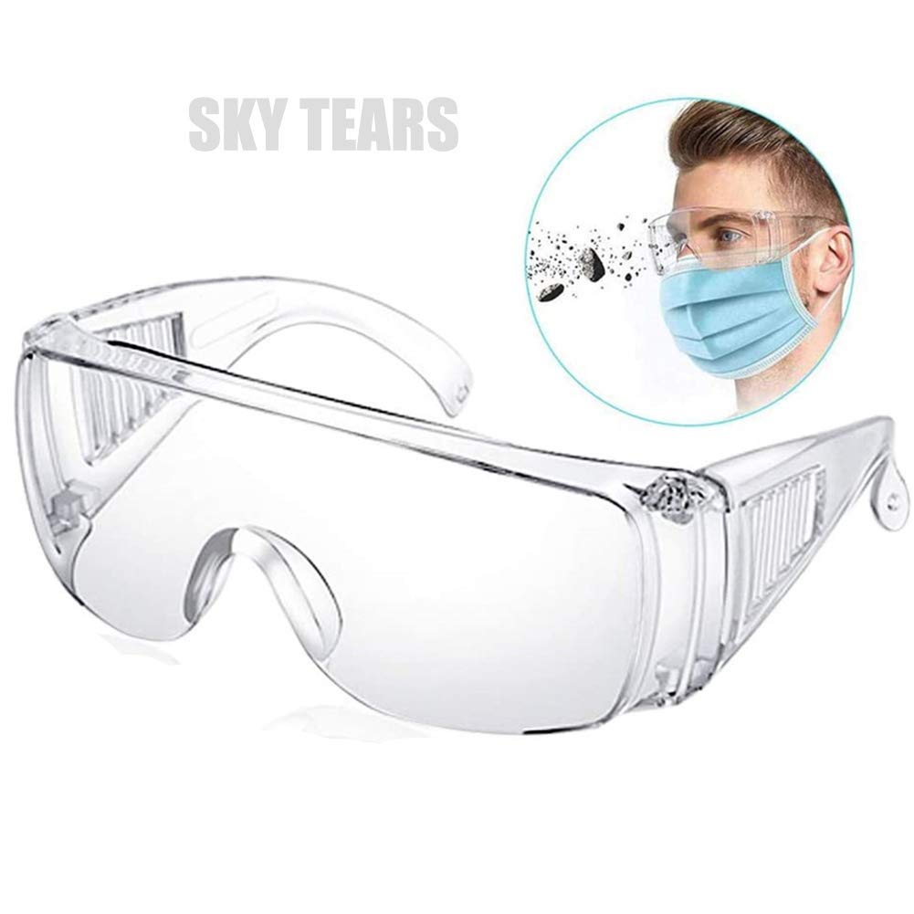 Gafas de Seguridad Gafas Protectoras Lentes de Seguridad Antivaho, para Laboratorio, Agricultura, Industria (Blanco)
