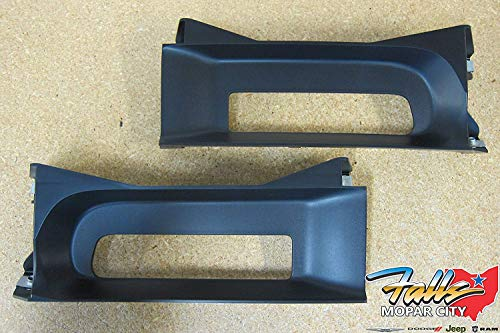 Dodge Ram 1500 Front Left & Right Side Tow Hook Bezel Kit OEM Mopar