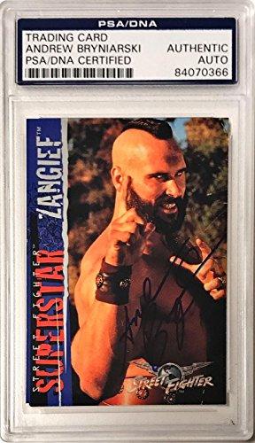 Andrew Bryniarski Street Fighter Zangief #54 Signed Auto Card Slabbed - PSA/DNA Certified