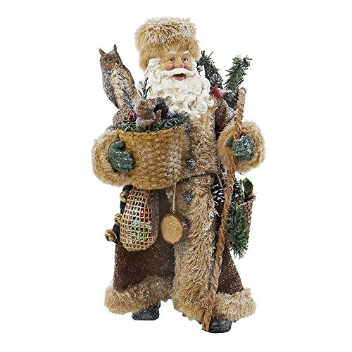 Kurt Adler Fabriche' Woodland Santa, 10-Inch