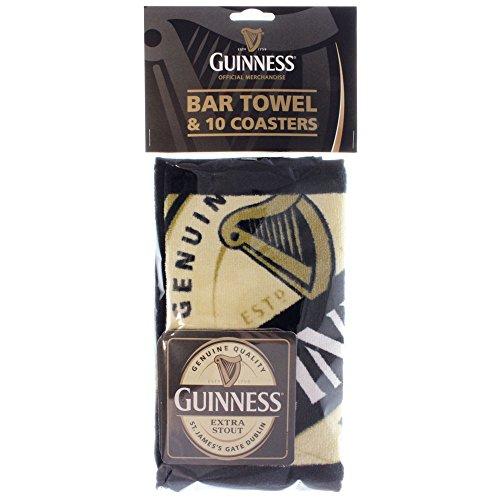 Guinness Bar Towel/Coaster Set