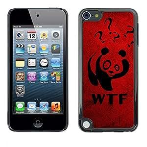 TopCaseStore / la caja del caucho duro de la cubierta de protección de la piel - Funny WTF Panda - Apple iPod Touch 5