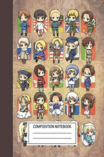 Notebook: Hetalia Group , Journal for Writing, Size 6