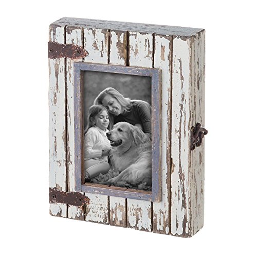 - Foreside Home & Garden FFRD06193 4X6 Rustic Wood Box Frame White