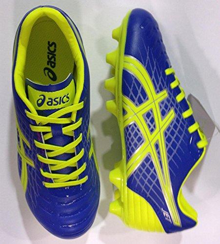 Asics , Chaussures de foot pour garçon ELECTRIC BLUE/FLASH YELLOW