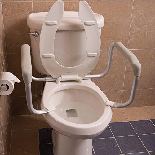 DMI Toilet Safety Rails, Toilet Safety Frame, White | sunbelt ... on handrails for bathroom, doors for bathroom, signs for bathroom, wheelchairs for bathroom, safety rails home, grab bars for bathroom, carts for bathroom, shelving for bathroom, toilets for bathroom, windows for bathroom, mobility aids for bathroom, lighting for bathroom, hardware for bathroom, towel bars for bathroom, flooring for bathroom, commodes for bathroom, ladder for bathroom, standing shelves for bathroom, furniture for bathroom, mirrors for bathroom,