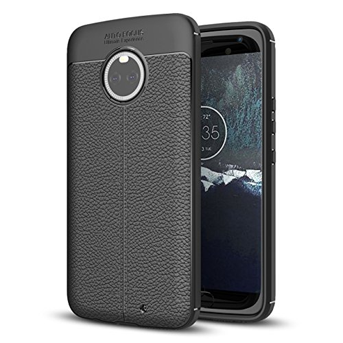 Moto X4 Case, Taorey Ultra Thin and Slim - Shockproof Drop Protection - Anti Slip and Scratch - TPU Leather TexturedScratch-Resistant for Motolola Moto X4 2017 (Black)...