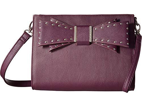 Betsey Johnson Women's Studded Bow Crossbody Purple One Size