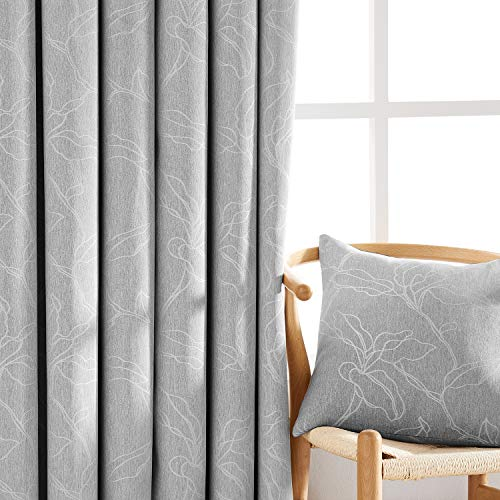 - NATWIN Leaf Grey Curtains for Bedroom 84