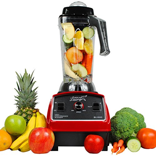 New Age Living Quiet Series 3.5HP Smoothie Blender - 68oz BPA-Free Unbreakable Tritan Jar - Perfectly Blends Frozen Fruits, Vegetables, Ice - Make the Perfect Smoothies at Home with Less Noise - Bla