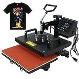F2C Pro 6 in 1 Combo Heat Press Machine T-shirt Hat Cap Mug Plate Digital Transfer Sublimation Machine (6 in 1)