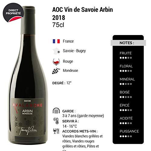 Vin-de-Savoie-Arbin-Mondeuse-Avalanche-Rouge-2018-Fabien-Trosset-Vin-AOC-Rouge-de-Savoie-Bugey-Cpage-Mondeuse-Lot-de-12x75cl