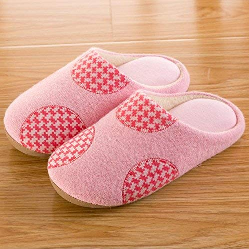 1 JaHGDU Women 's Home Cotton Slippers Indoor Keep Warm Casual Slippers Pink Large Cute Personality Elegant Quality