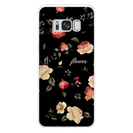 Amazon.com: Samsung Galaxy S9 Plus Case Flower TPU Case for ...