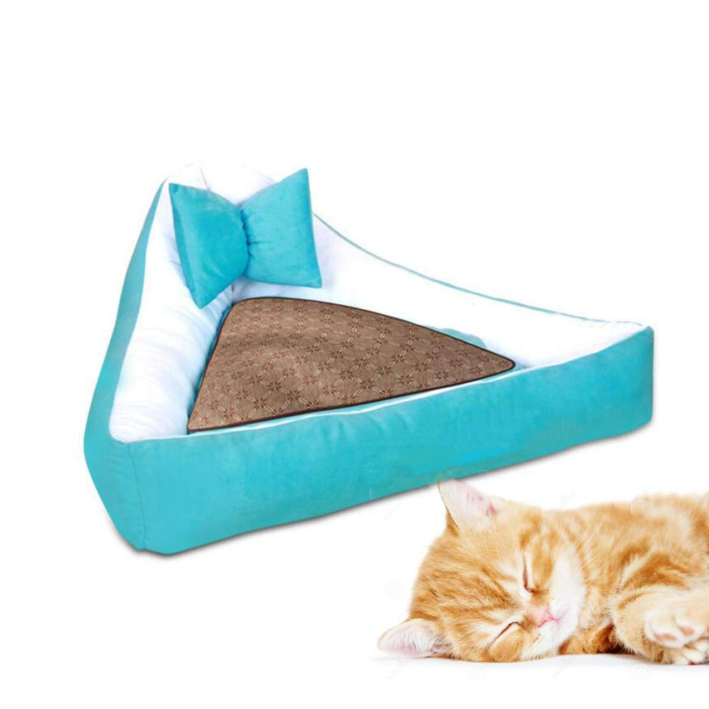 Medium Kennel Pads Dog Beds Triangle pet mat, Non-Slip Easy to disassemble Easy to Clean Pet Sofa Dog Bed, cat, Dog, pet Cat Bed Pet Supplies Cover (Size   Medium)
