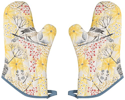 Now Designs Basic Oven Mitts, Set of Two, Mockingbird ()