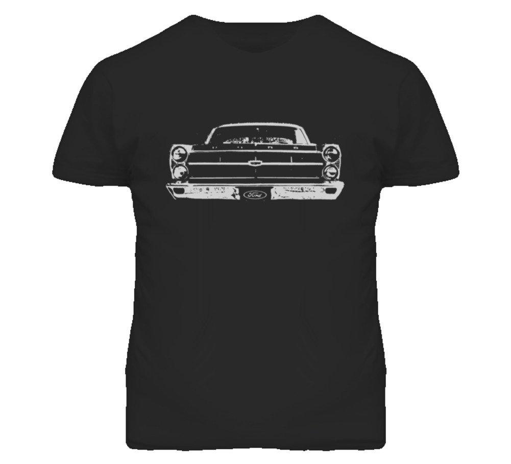 Cargeektees Com 1967 Fairlane Faded Look Grill View Grapic Dark T Shirt 7709
