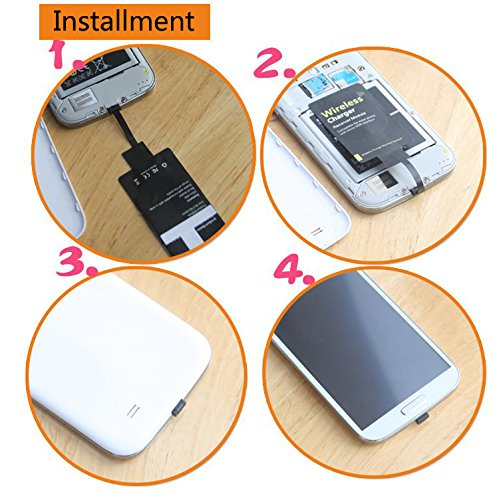 Qi Wireless Charger with Charging Receiver Kit for LG Stylo 2 3 V10 G4 K7  Q6 Plus Samsung Galaxy J7 Pro Note 4 A5 A3 Moto G6 Play G5 G5S E4 ZTE