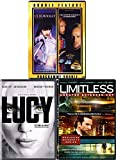 Program Sci-Fi 4 Movie DVD Pack Ultraviolet / Fifth Element / Lucy & Limitless Movie Bundle quad Thrill ride set