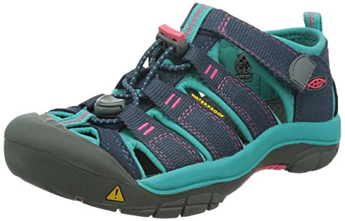 KEEN Big Kid (8-12 Years) Newport H2 Midnight Navy/Baltic Sandal - 7 US Big Kid