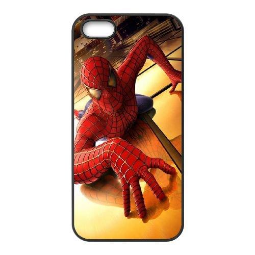 901 .Spider Man L coque iPhone 5 5S cellulaire cas coque de téléphone cas téléphone cellulaire noir couvercle EOKXLLNCD21038