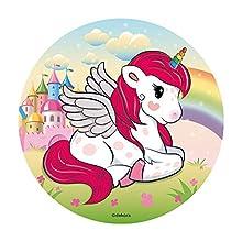 Dekora - Unicornio Decoracion Tartas de Cumpleaños, 20 cm, Multicolor, 145086