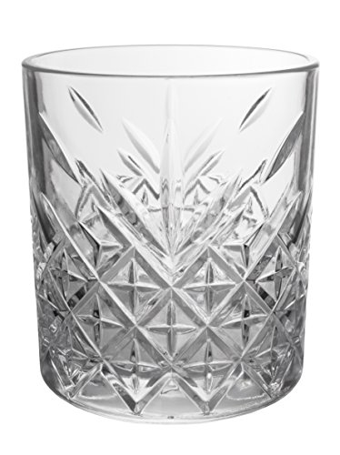 Classic Double Old Fashioned Drinking Glasses, Crystal Clear with Air Bubble, Set of 4, 4-inch, 11 (Classic Double Old Fashioned)
