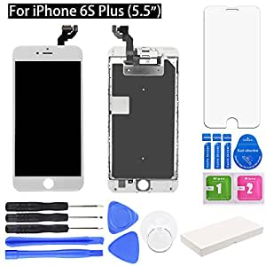 "iPhone 7 Screen Replacement. DR.Fix Full Display Assembly with LCD Screen, Touch Digitizer, 3D Touch Layer, Front Facing Camera, Earpiece Speaker etc. Repair iPhone 7 Screen (4.7"") (White)"