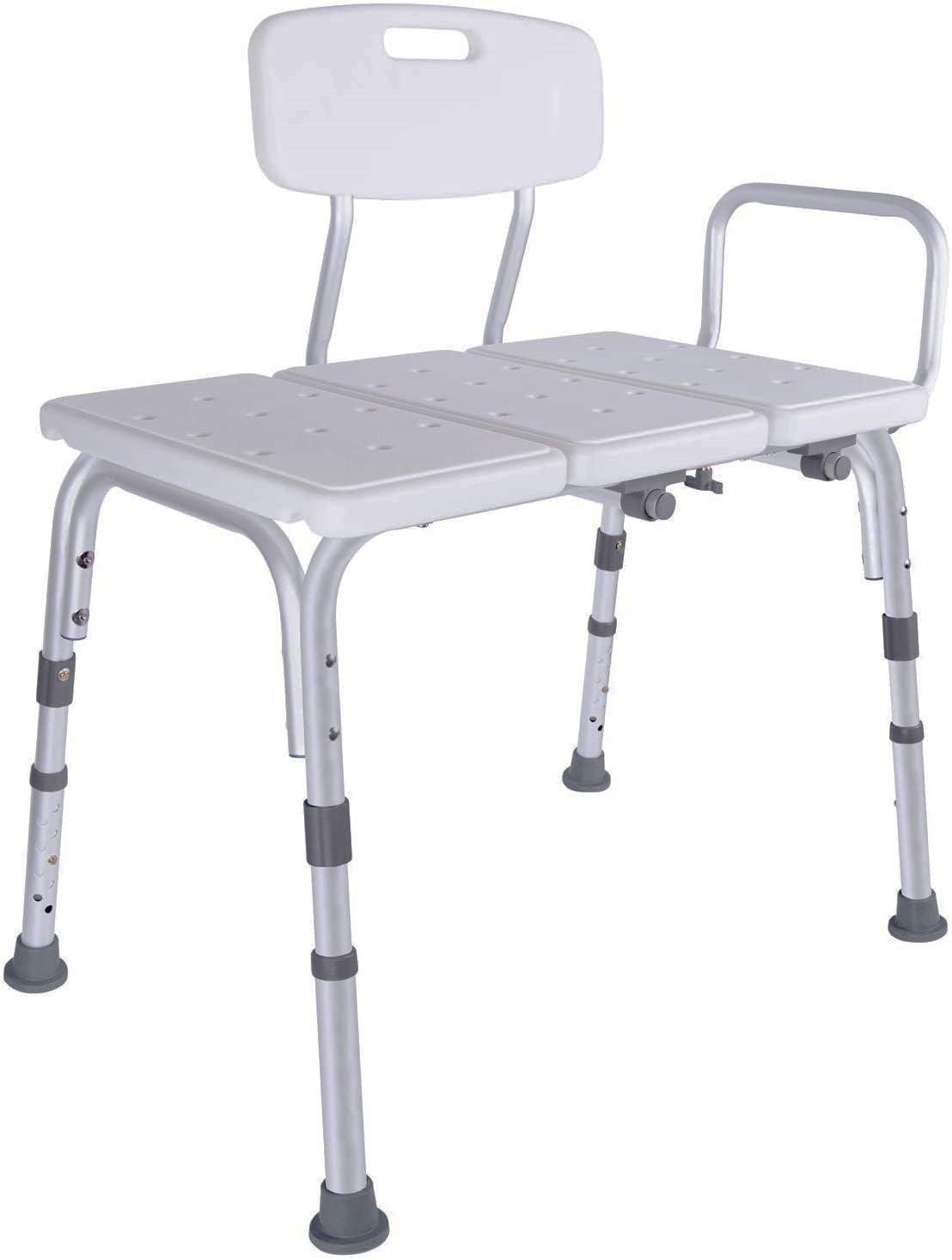 Vaunn Medical Shower Transfer Bench, Bathtub Seat, Shower Chair
