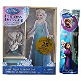 Bendon Disney Frozen Elsa 25-Piece Wooden Magnetic Doll Dress-Up Bundle with Glowing Wand