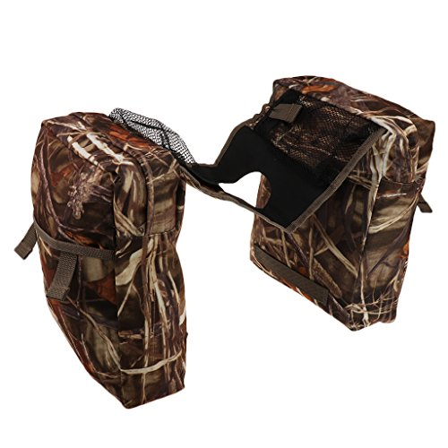 MonkeyJack Tank Bag Saddlebag Saddle Bags for Honda YAMAHA Suzuki Harley ATV - Camo