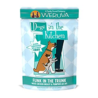 Weruva Dogs In The Kitchen, Funk In The Trunk With Chicken Breast & Pumpkin Au Jus Dog Food, 2.8Oz Pouch (Pack Of 12)