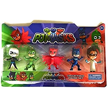 Abbros PJ Masks Action Mini Figures Play Set Birthday Party Supplies Bundle 6 Pack - 3
