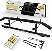 Pull Up Bar for Doorway, Home Gym Pullup Bar with Angled Grip and Shortened Upper Bar, Multi Gym Portable Door