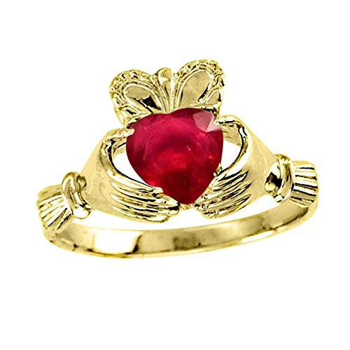 Claddagh Ring Claddah Love, Loyalty & Friendship Ring 14K Yellow Gold or 14K White Gold by Rylos (Image #4)