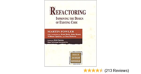 Amazon refactoring improving the design of existing code amazon refactoring improving the design of existing code addison wesley object technology series ebook martin fowler kent beck john brant fandeluxe