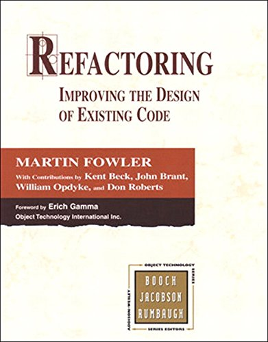 Download Refactoring: Improving the Design of Existing Code (Addison-Wesley Object Technology Series) Pdf