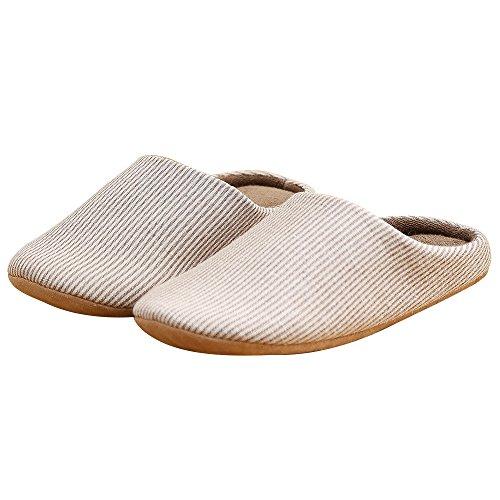 Unisex Slippers Adulto Jackshibo Uomini Marrone Morbido Comodo Donna Antiscivolo Inverno Pantofole Per 1d00xwa