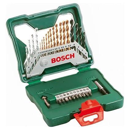 Advanced Bosch XS-ProSPEC 30 piezas X Line de titanio brocas y juego ...