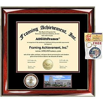 Amazon Com Auburn University Diploma Frame Premier Clock
