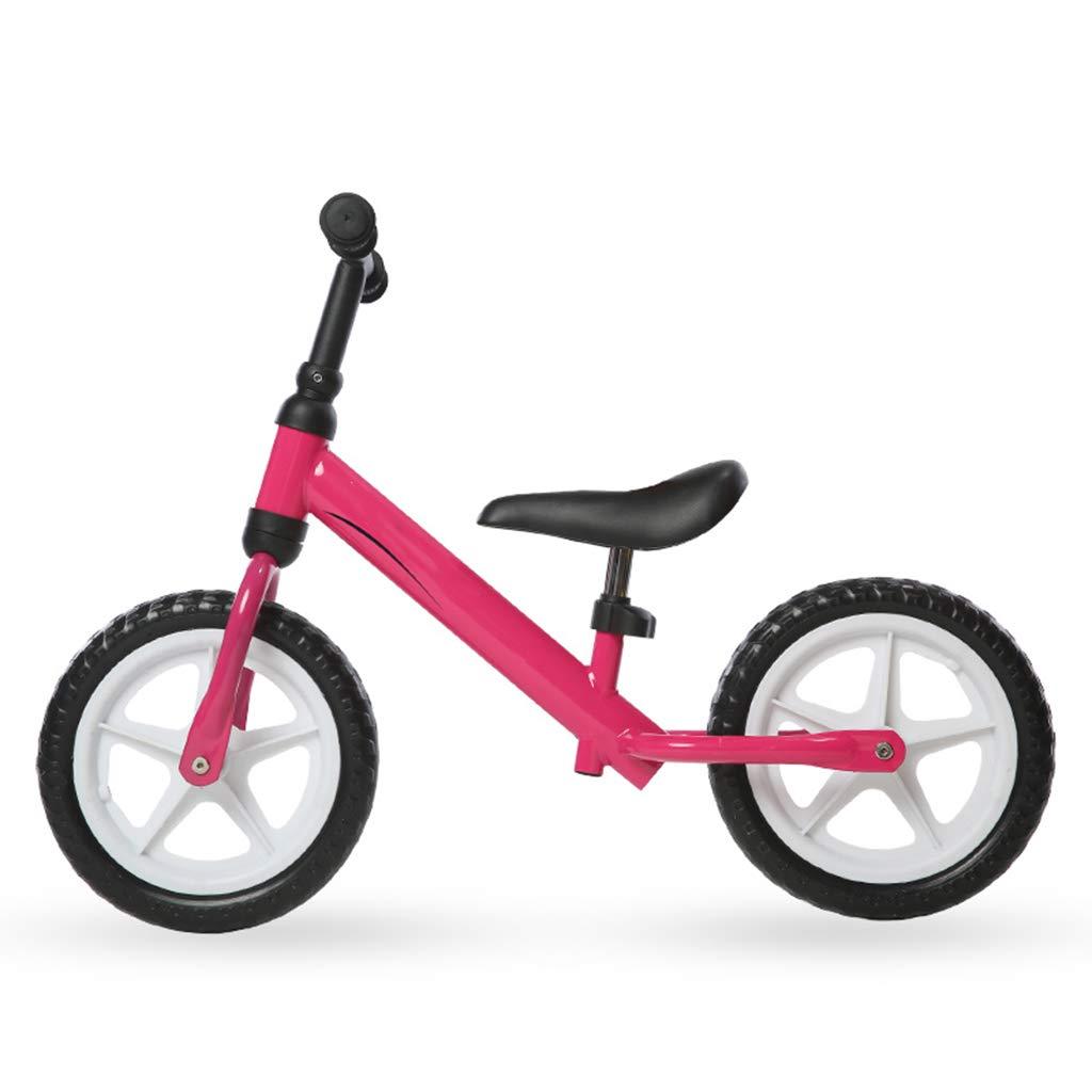 """últimos estilos Bicicleta sin pedales Bici Bicicleta Bicicleta Bicicleta de Equilibrio Rosa para una niña de 2 años, sin Pedales Entrenamiento Ligero Bicicletas con Ruedas de 12""""y limitador de Giro  en promociones de estadios"""