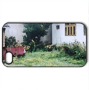 Yard - Case Cover for iPhone 4 and 4s (Watercolor style, Black)