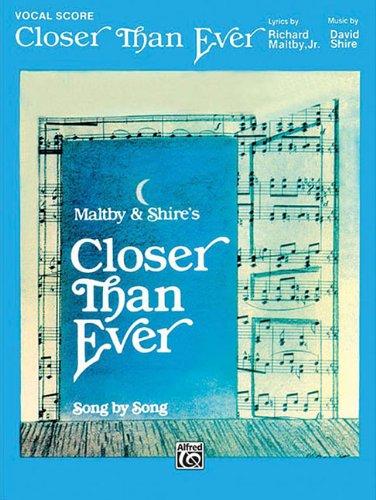 Closer Than Ever Vocal Score PVG
