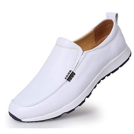 YaXuan Zapatos de Cuero para Hombres Mocasines y Sandalias de Cuero con Cordones Zapatos de conducción
