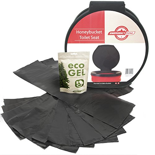 Emergency Zone Eco Gel Sanitation Set with Honey Bucket Toilet Seat