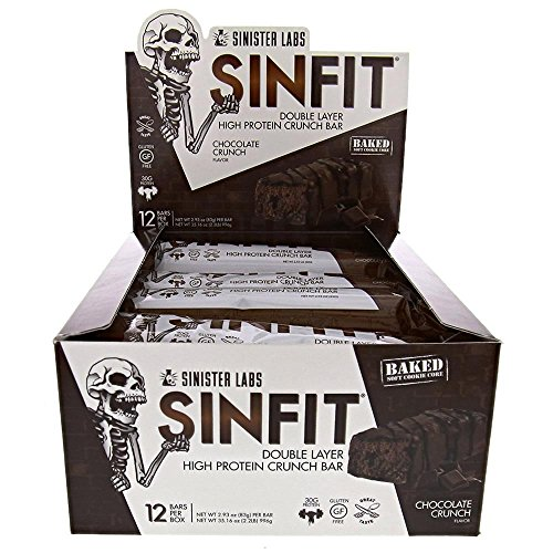 SINFIT® High Protein Bars, Great Tasting, 30g Protein, Gluten Free, 12-pack (Chocolate (Advantage Caramel Double Chocolate)